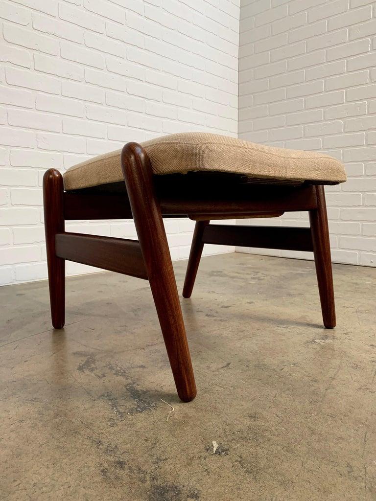 I.B. Kofod-Larsen High Back Lounge Chair Model PD30 with Ottoman, circa 1960 For Sale 5