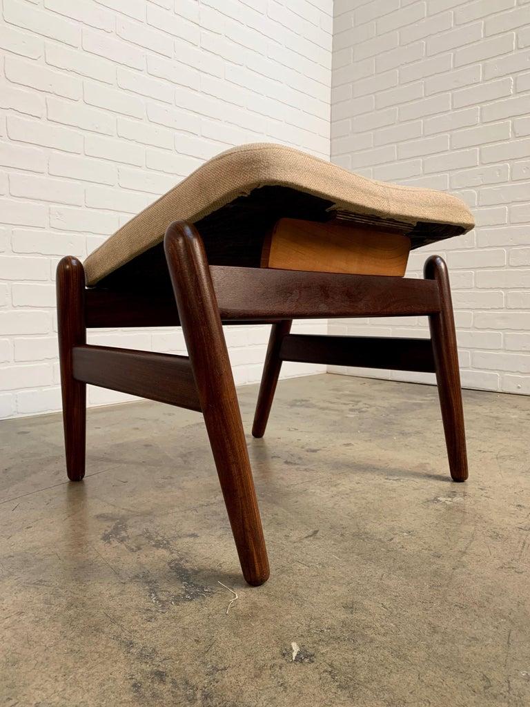 I.B. Kofod-Larsen High Back Lounge Chair Model PD30 with Ottoman, circa 1960 For Sale 6