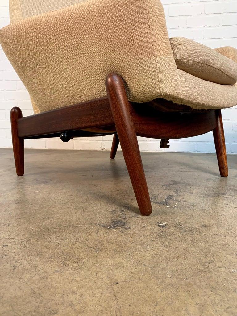 I.B. Kofod-Larsen High Back Lounge Chair Model PD30 with Ottoman, circa 1960 For Sale 7