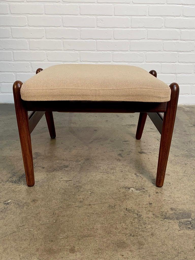 I.B. Kofod-Larsen High Back Lounge Chair Model PD30 with Ottoman, circa 1960 For Sale 2