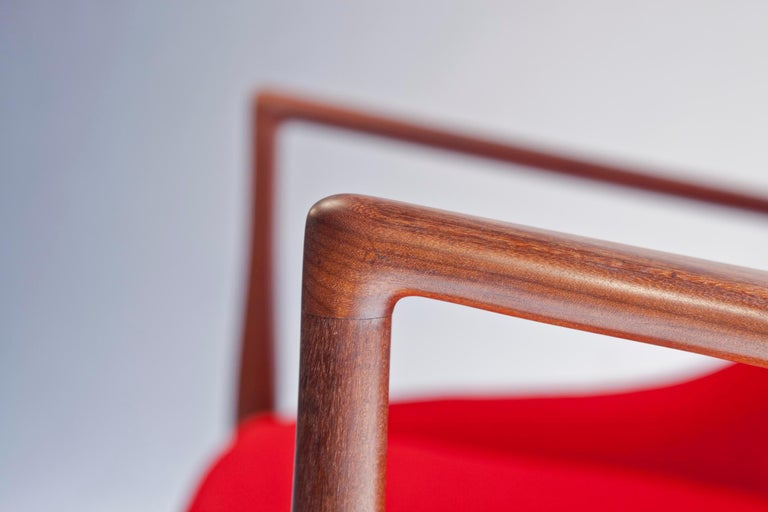 Ib Kofod-Larsen High Back Seal Chair in Afrormosia Teak for OPE, Sweden, 1960s For Sale 8