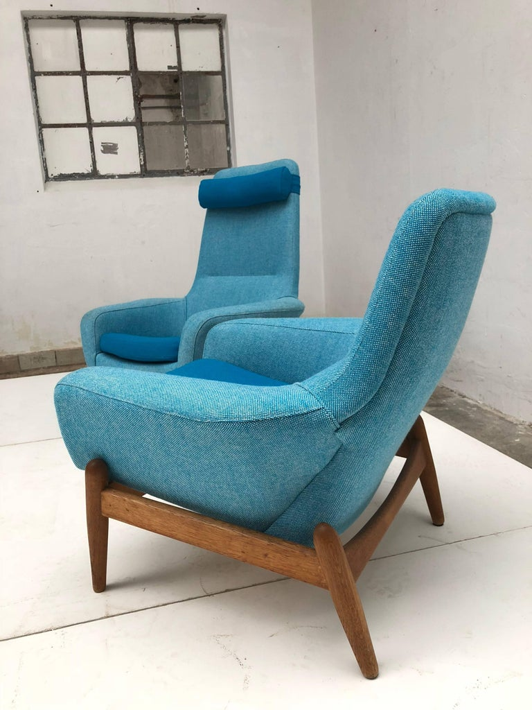 Scandinavian Modern Lady & Senior Chair by Madsen & Schubel Bovenkamp Wool Hallingdal Nana Ditzel  For Sale