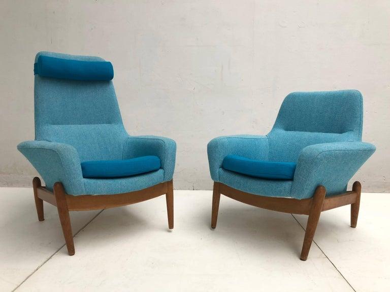 Danish Lady & Senior Chair by Madsen & Schubel Bovenkamp Wool Hallingdal Nana Ditzel  For Sale