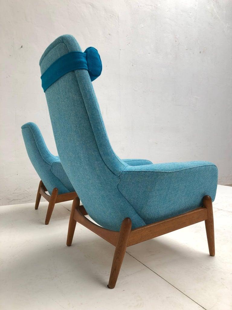 Lady & Senior Chair by Madsen & Schubel Bovenkamp Wool Hallingdal Nana Ditzel  In Good Condition For Sale In bergen op zoom, NL