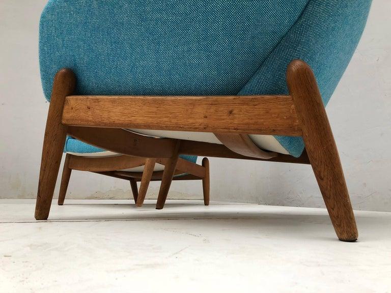 Mid-20th Century Lady & Senior Chair by Madsen & Schubel Bovenkamp Wool Hallingdal Nana Ditzel  For Sale