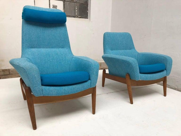 Lady & Senior Chair by Madsen & Schubel Bovenkamp Wool Hallingdal Nana Ditzel  For Sale 1