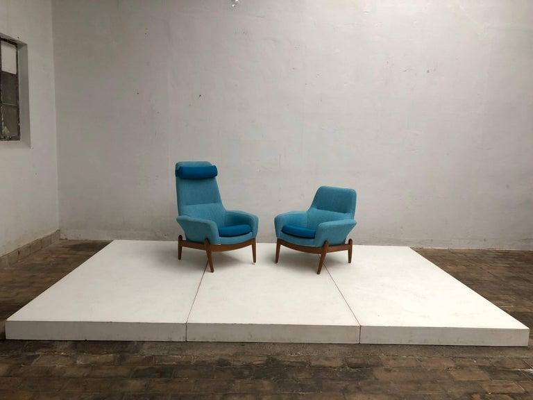 Lady & Senior Chair by Madsen & Schubel Bovenkamp Wool Hallingdal Nana Ditzel  For Sale 2