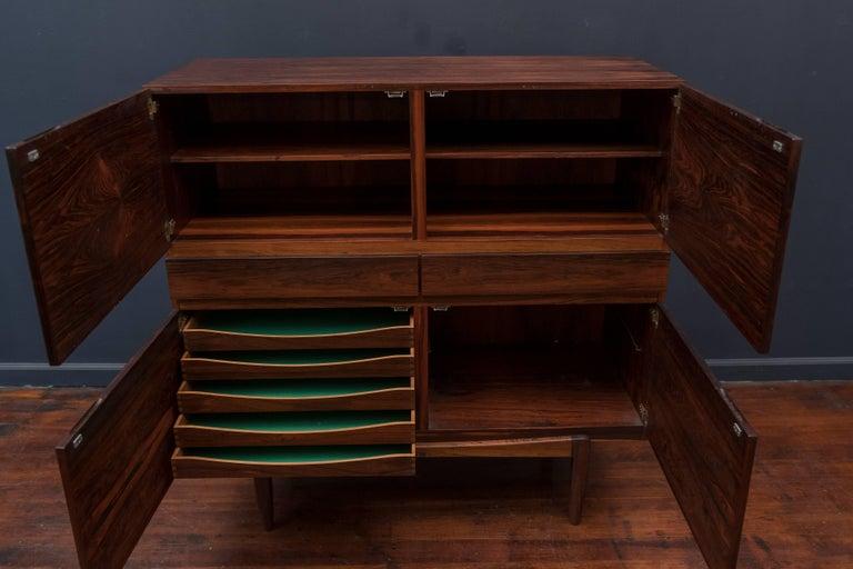 Scandinavian Modern Ib Kofod-Larsen Large Rosewood Cabinet For Sale