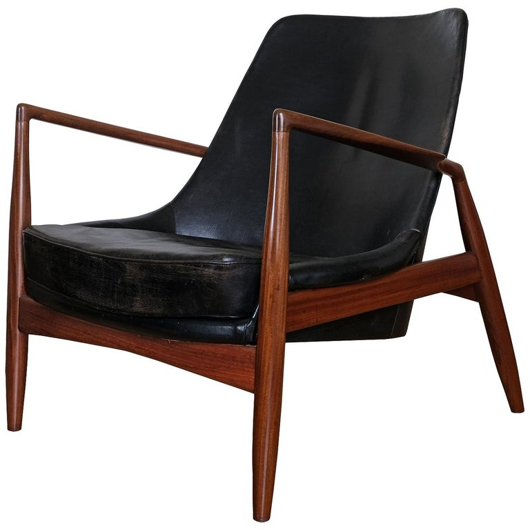 """Ib Kofod-Larsen, Lounge Armchair """"Seal"""", Produced by OPE, Sweden, 1950s For Sale"""