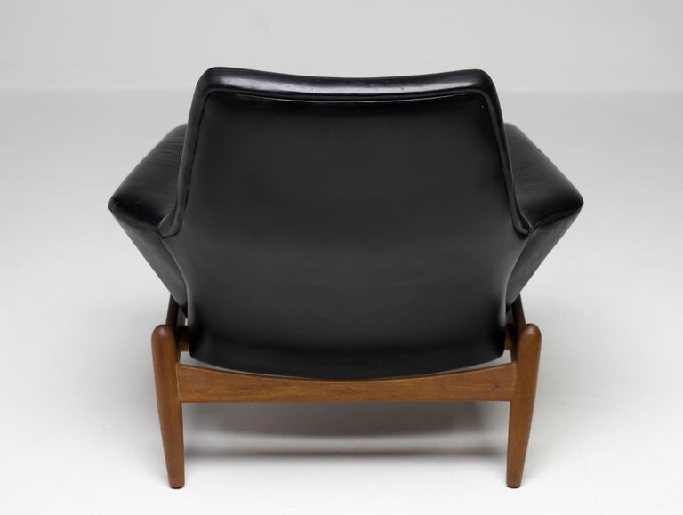 Leather Ib Kofod Larsen Lounge Chair For Sale