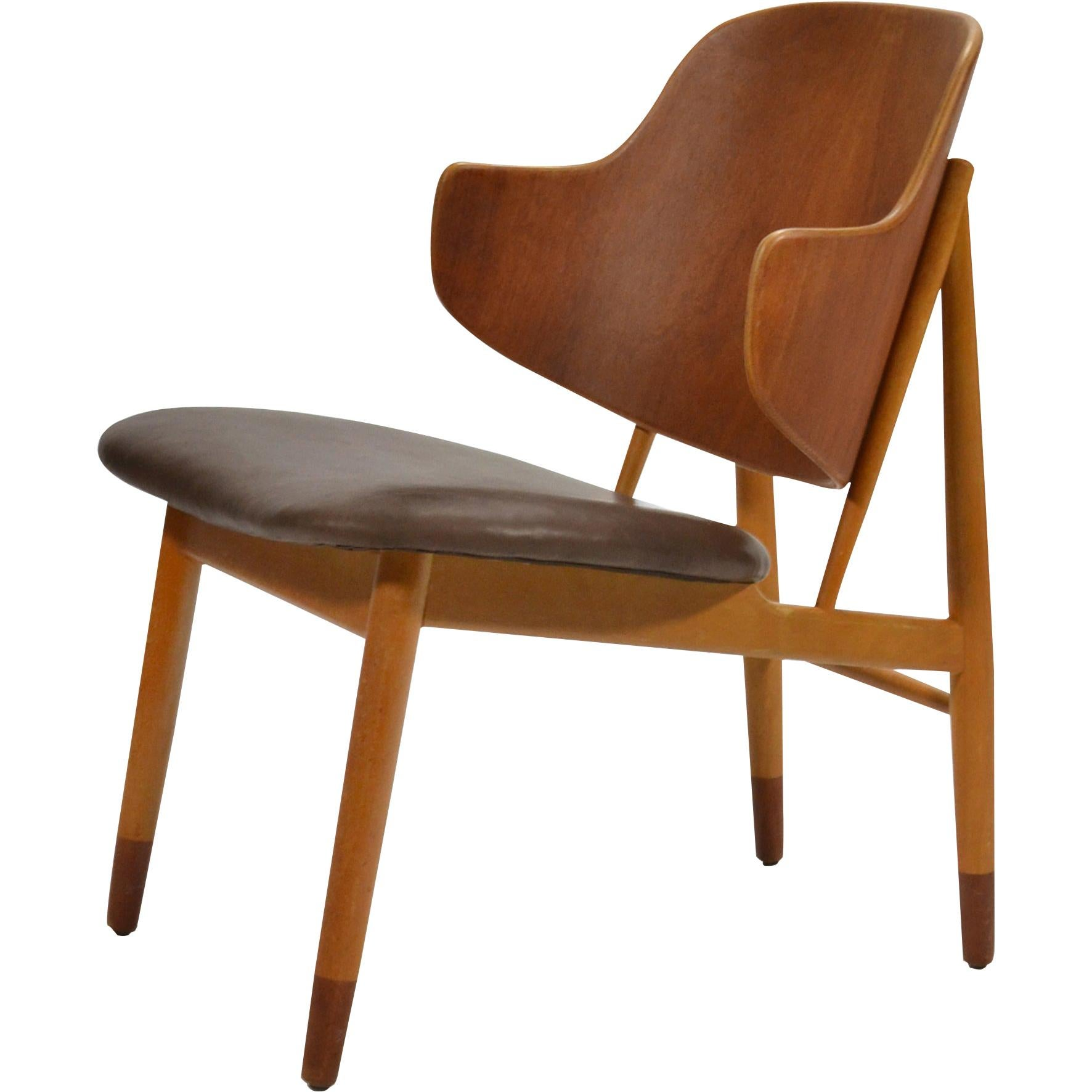 Ib Kofod-Larsen Lounge Chair in Teak and Birch