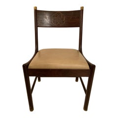 "Ib Kofod Larsen ""Megiddo Collection"" Side Chair in Wenge with Olive Wood Inlay"