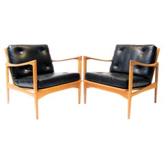 Ib Kofod-Larsen Pair of Easy Chairs Model Kandidaten, 1960s for Ope Sweden