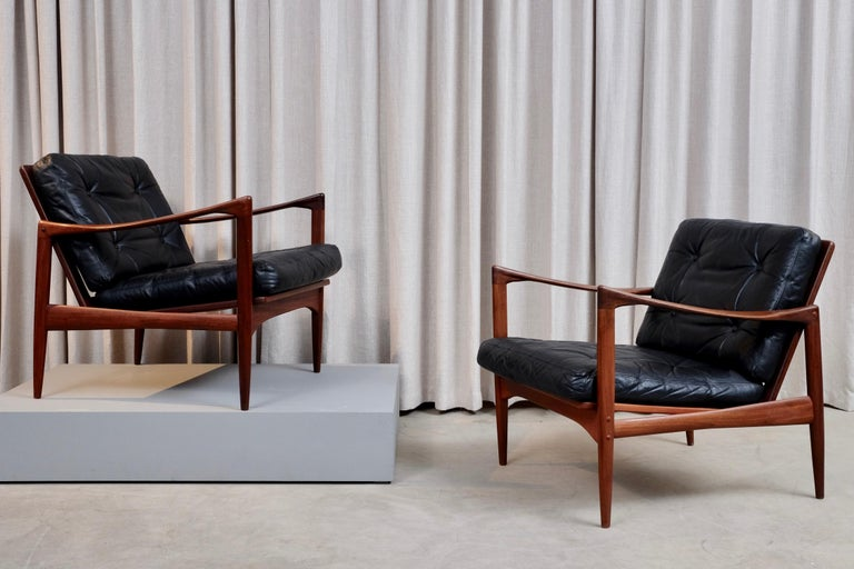 Ib Kofod-Larsen Pair of Easy Chairs Model Kandidaten, 1960s 8