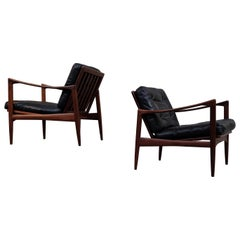 Ib Kofod-Larsen Pair of Easy Chairs Model Kandidaten, 1960s