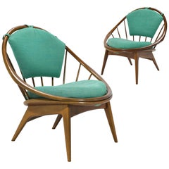 """Ib Kofod-Larsen Pair of """"Hoop"""" Chairs"""