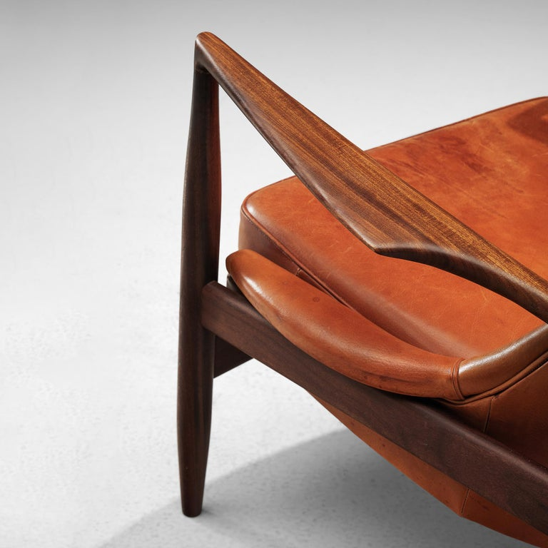 Ib Kofod-Larsen Pair of 'Seal' Chairs in Original Leather For Sale 1