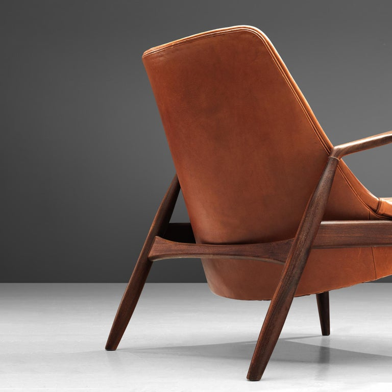 Ib Kofod-Larsen Pair of 'Seal' Chairs in Original Leather For Sale 3