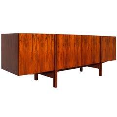 Ib Kofod Larsen Rare Long Rosewood Sideboard Credenza