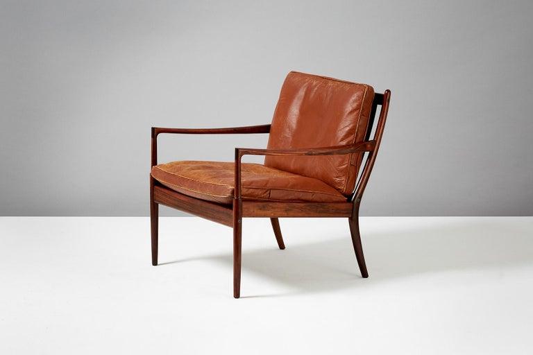 Scandinavian Modern Ib Kofod-Larsen Rosewood Samso Chair, circa 1950s For Sale