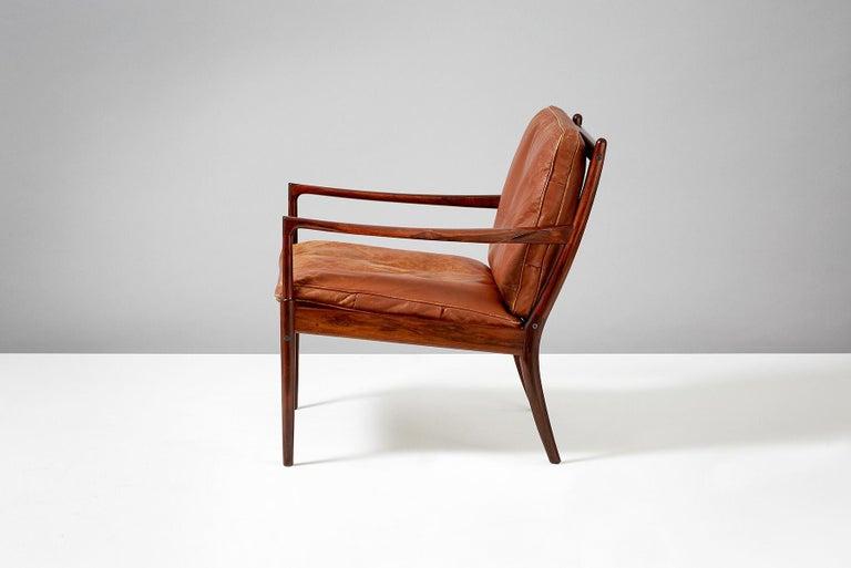 Swedish Ib Kofod-Larsen Rosewood Samso Chair, circa 1950s For Sale