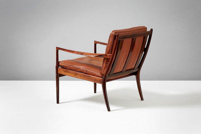 Ib Kofod-Larsen Rosewood Samso Chair, circa 1950s In Good Condition For Sale In London, GB