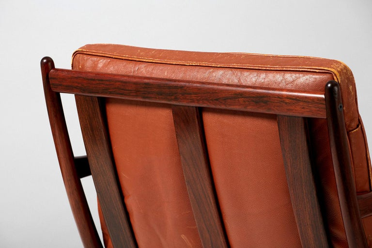Mid-20th Century Ib Kofod-Larsen Rosewood Samso Chair, circa 1950s For Sale