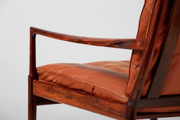 Ib Kofod-Larsen Rosewood Samso Chair, circa 1950s For Sale 1