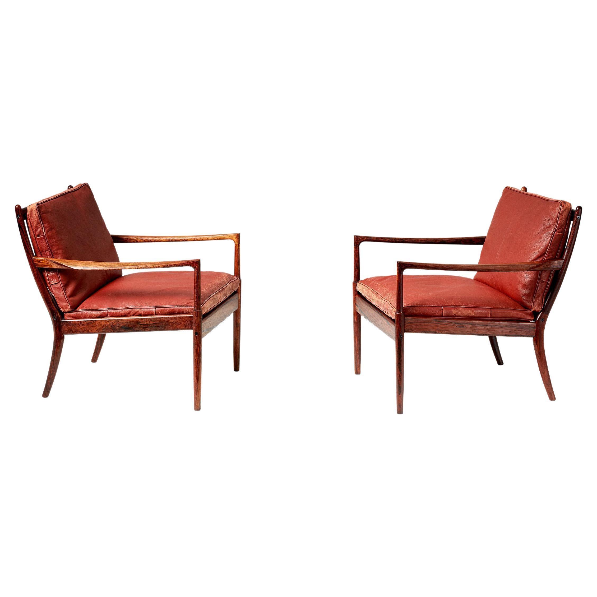 Ib Kofod-Larsen Rosewood Samso Chairs, c1950s