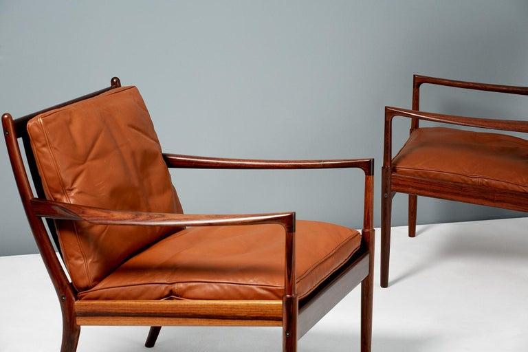 Scandinavian Modern Ib Kofod-Larsen Rosewood Samso Chairs, circa 1960