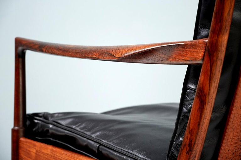 Scandinavian Modern Ib Kofod-Larsen Rosewood Samso Chairs, circa 1960 For Sale