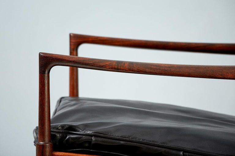 Swedish Ib Kofod-Larsen Rosewood Samso Chairs, circa 1960 For Sale