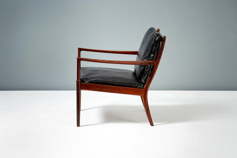 Ib Kofod-Larsen Rosewood Samso Chairs, circa 1960 In Excellent Condition For Sale In London, GB