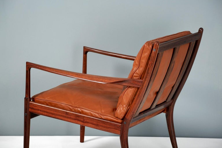 Mid-20th Century Ib Kofod-Larsen Rosewood Samso Chairs, circa 1960 For Sale
