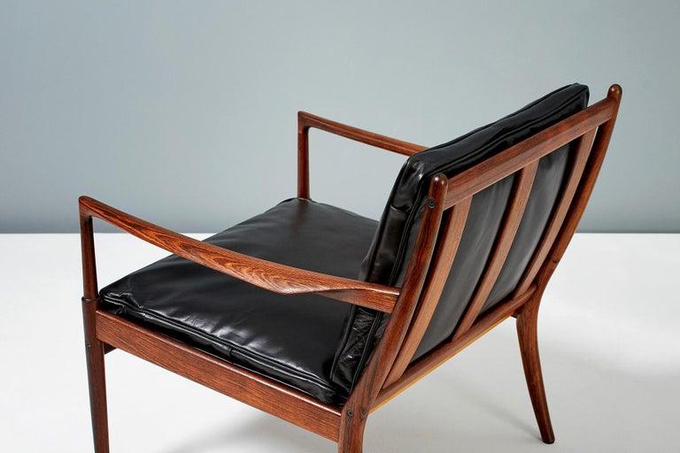 Mid-20th Century Ib Kofod-Larsen Rosewood Samso Chairs, circa 1960 For Sale