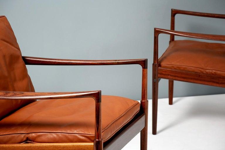 Ib Kofod-Larsen Rosewood Samso Chairs, circa 1960 1
