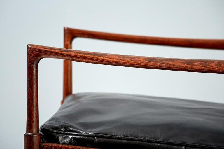 Ib Kofod-Larsen Rosewood Samso Chairs, circa 1960 For Sale 1