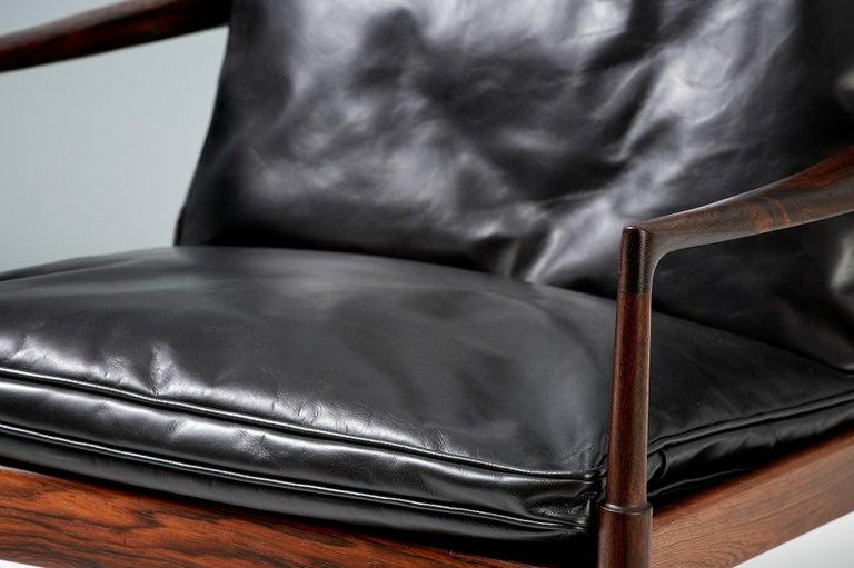 Ib Kofod-Larsen Rosewood Samso Chairs, circa 1960 For Sale 2