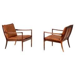 Ib Kofod-Larsen Rosewood Samso Chairs, circa 1960