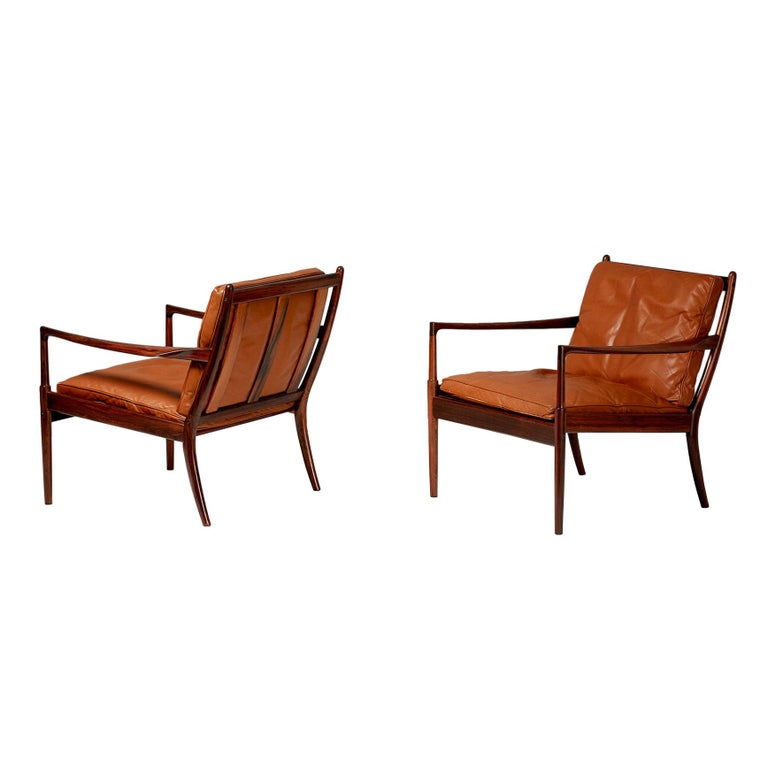 Ib Kofod-Larsen Rosewood Samso Chairs, circa 1960 For Sale