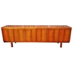 Ib Kofod-Larsen Rosewood Sideboard Credenza by Seffle Mobelfabrik, circa 1960