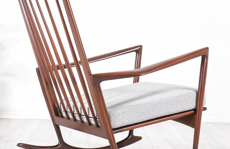 Ib Kofod-Larsen Sculpted Rocking Chair for Selig 3