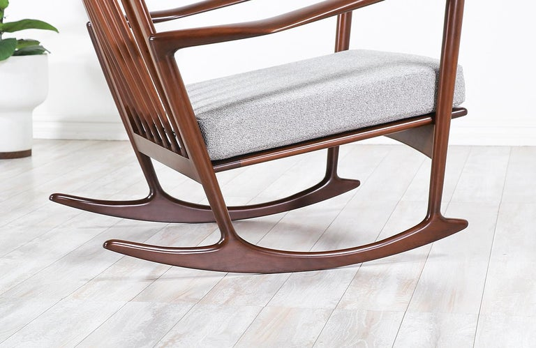 Ib Kofod-Larsen Sculpted Rocking Chair for Selig 4