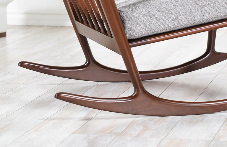 Ib Kofod-Larsen Sculpted Rocking Chair for Selig 5