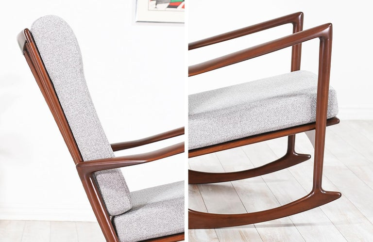 Ib Kofod-Larsen Sculpted Rocking Chair for Selig 6