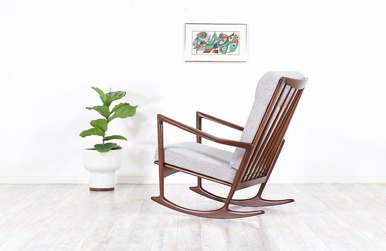 Danish Ib Kofod-Larsen Sculpted Rocking Chair for Selig