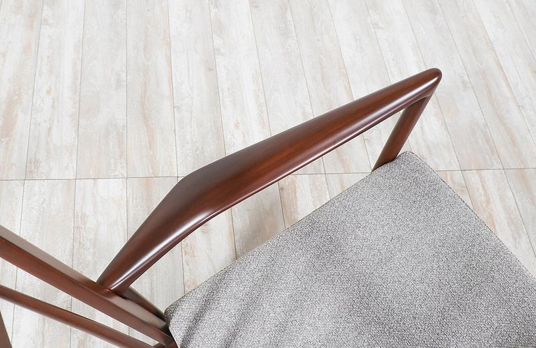 Fabric Ib Kofod-Larsen Sculpted Rocking Chair for Selig