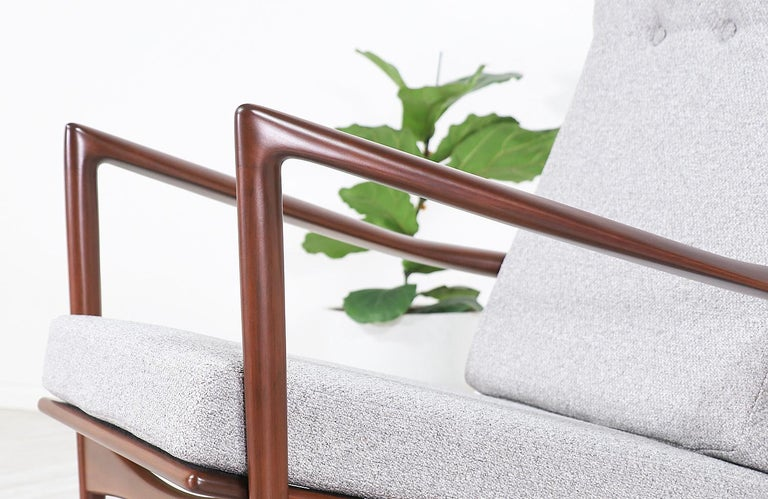 Ib Kofod-Larsen Sculpted Rocking Chair for Selig 2