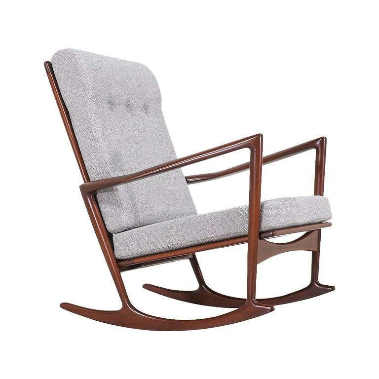 Ib Kofod-Larsen Sculpted Rocking Chair for Selig
