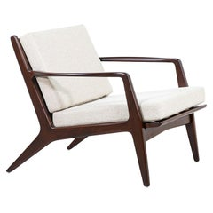Ib Kofod-Larsen Sculpted Walnut Lounge Chair for Selig